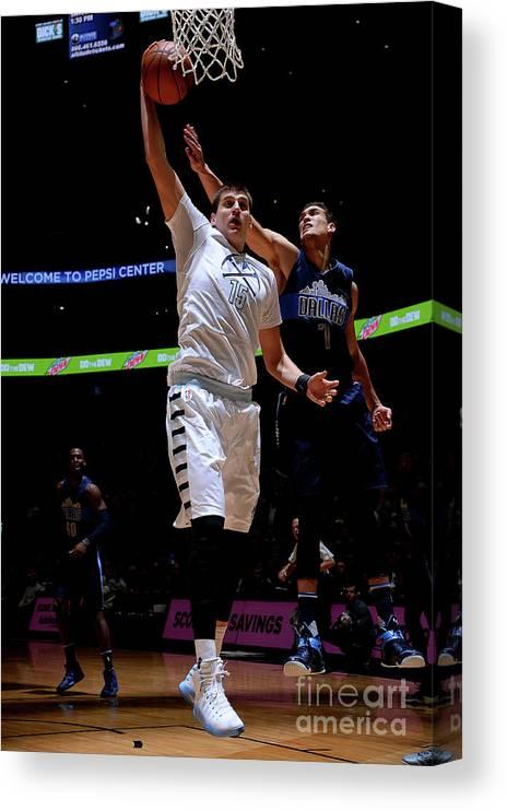 Nba Pro Basketball Canvas Print featuring the photograph Dallas Mavericks V Denver Nuggets by Bart Young