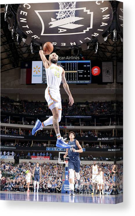Nba Pro Basketball Canvas Print featuring the photograph Golden State Warriors V Dallas Mavericks by Glenn James