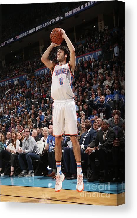 Nba Pro Basketball Canvas Print featuring the photograph La Clippers V Oklahoma City Thunder by Layne Murdoch