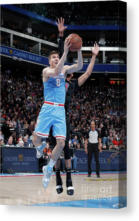 Nba Pro Basketball Canvas Print featuring the photograph Los Angeles Clippers V Sacramento Kings by Rocky Widner