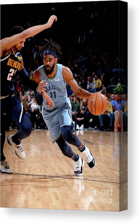 Nba Pro Basketball Canvas Print featuring the photograph Memphis Grizzlies V Denver Nuggets by Bart Young