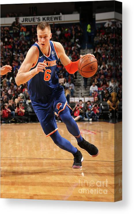 Smoothie King Center Canvas Print featuring the photograph New York Knicks V New Orleans Pelicans by Layne Murdoch