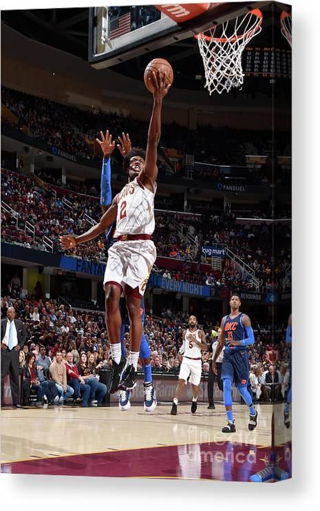 Nba Pro Basketball Canvas Print featuring the photograph Oklahoma City Thunder V Cleveland by David Liam Kyle