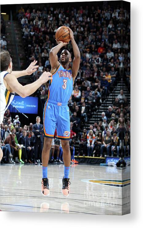 Nba Pro Basketball Canvas Print featuring the photograph Oklahoma City Thunder V Utah Jazz by Melissa Majchrzak
