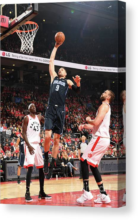 Playoffs Canvas Print featuring the photograph Orlando Magic V Toronto Raptors - Game by Ron Turenne