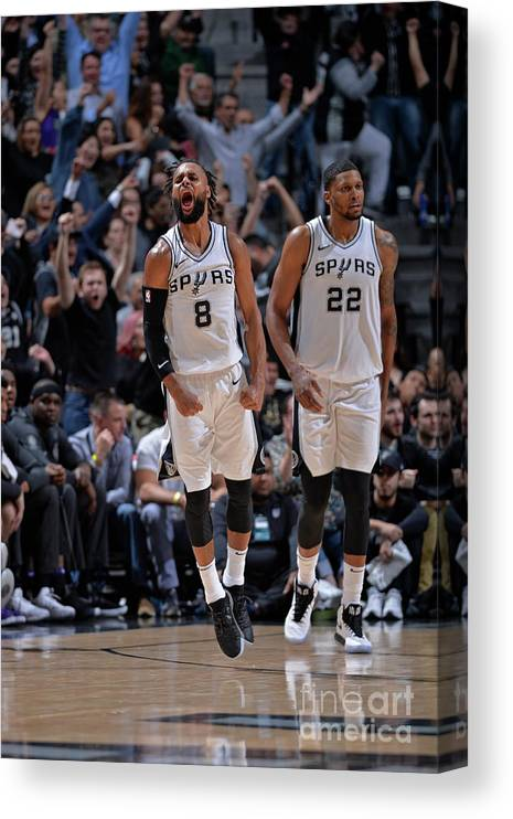 Nba Pro Basketball Canvas Print featuring the photograph Sacramento Kings V San Antonio Spurs by Mark Sobhani