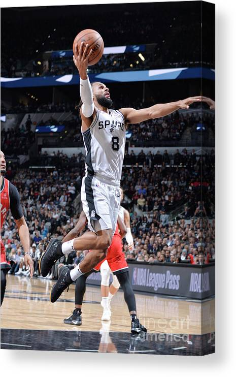 Nba Pro Basketball Canvas Print featuring the photograph Toronto Raptors V San Antonio Spurs by Mark Sobhani