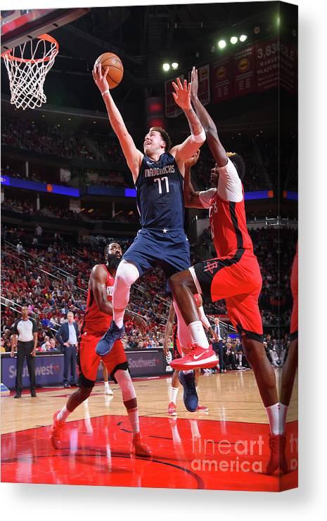 Nba Pro Basketball Canvas Print featuring the photograph Dallas Mavericks V Houston Rockets by Bill Baptist