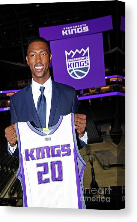 Nba Pro Basketball Canvas Print featuring the photograph 2017 Sacramento Kings Draft Picks by Rocky Widner