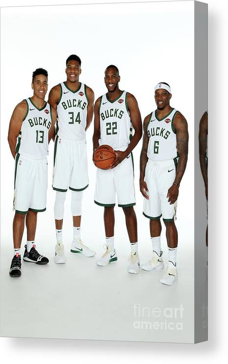 Media Day Canvas Print featuring the photograph 2018 Milwaukee Bucks Media Day by Gary Dineen