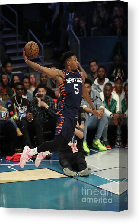 Nba Pro Basketball Canvas Print featuring the photograph 2019 At&t Slam Dunk Contest by Joe Murphy