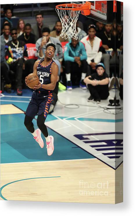 Nba Pro Basketball Canvas Print featuring the photograph 2019 At&t Slam Dunk Contest by Kent Smith