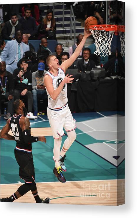 Nba Pro Basketball Canvas Print featuring the photograph 2019 Nba All-star Game by Garrett Ellwood