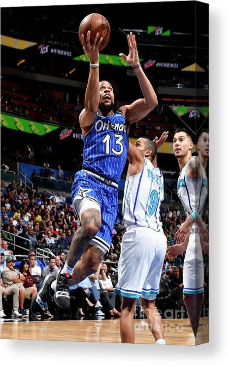 Nba Pro Basketball Canvas Print featuring the photograph Charlotte Hornets V Orlando Magic by Fernando Medina