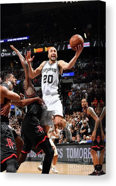 Playoffs Canvas Print featuring the photograph Houston Rockets V San Antonio Spurs - by Jesse D. Garrabrant