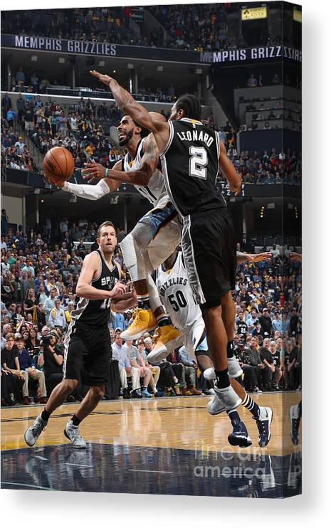 Playoffs Canvas Print featuring the photograph San Antonio Spurs V Memphis Grizzlies - by Joe Murphy
