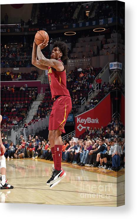 Nba Pro Basketball Canvas Print featuring the photograph Miami Heat V Cleveland Cavaliers by David Liam Kyle