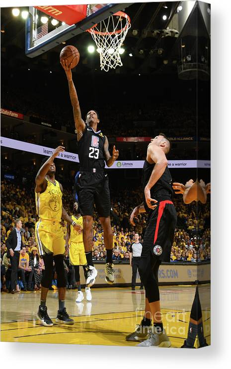 Playoffs Canvas Print featuring the photograph La Clippers V Golden State Warriors - by Noah Graham