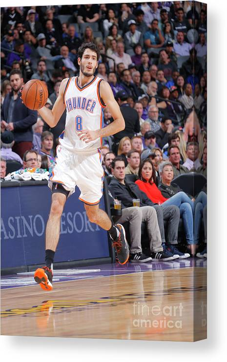 Nba Pro Basketball Canvas Print featuring the photograph Oklahoma City Thunder V Sacramento Kings by Rocky Widner