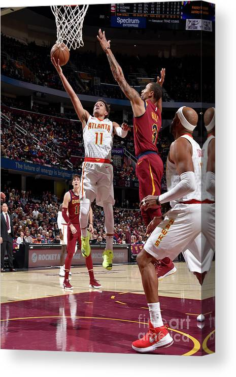 Nba Pro Basketball Canvas Print featuring the photograph Atlanta Hawks V Cleveland Cavaliers by David Liam Kyle