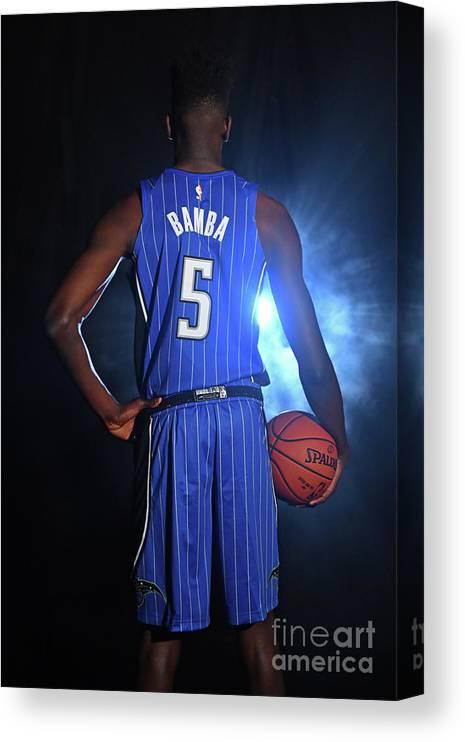 Nba Pro Basketball Canvas Print featuring the photograph 2018 Nba Rookie Photo Shoot by Jesse D. Garrabrant