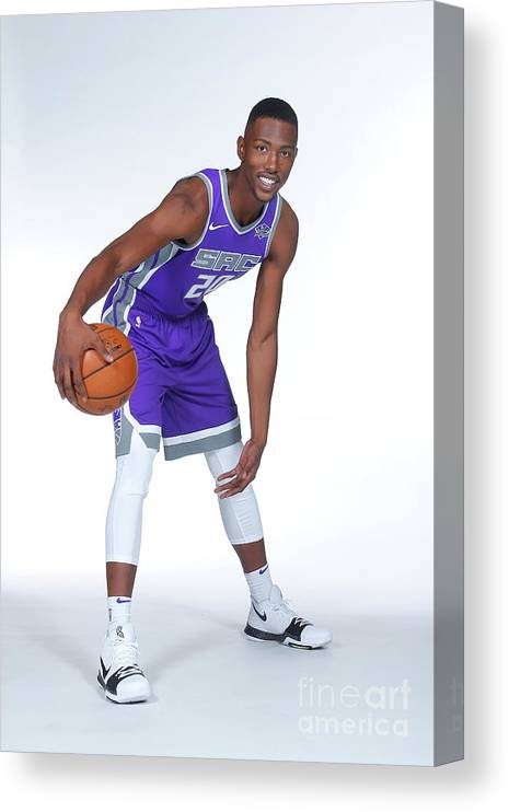 Media Day Canvas Print featuring the photograph 2017-18 Sacramento Kings Media Day by Rocky Widner