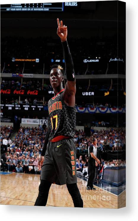Nba Pro Basketball Canvas Print featuring the photograph Atlanta Hawks V Dallas Mavericks by Danny Bollinger