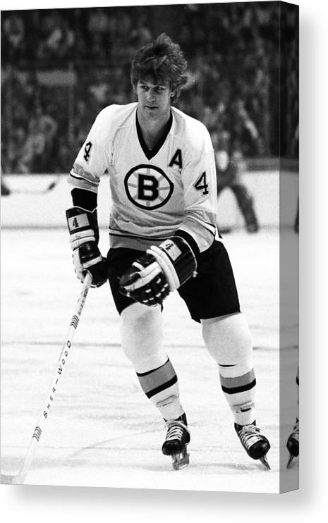 National Hockey League Canvas Print featuring the photograph Boston Bruins by Steve Babineau