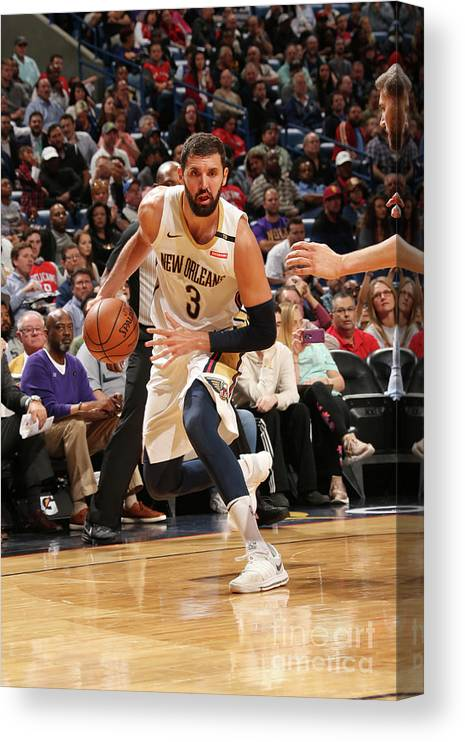 Smoothie King Center Canvas Print featuring the photograph Dallas Mavericks V New Orleans Pelicans by Layne Murdoch