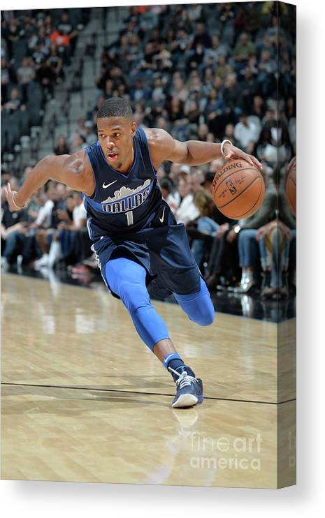 Nba Pro Basketball Canvas Print featuring the photograph Dallas Mavericks V San Antonio Spurs by Mark Sobhani