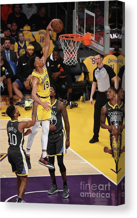 Nba Pro Basketball Canvas Print featuring the photograph Golden State Warriors V Los Angeles by Adam Pantozzi