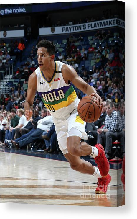 Smoothie King Center Canvas Print featuring the photograph Indiana Pacers V New Orleans Pelicans by Layne Murdoch Jr.