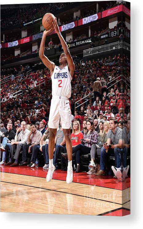 Nba Pro Basketball Canvas Print featuring the photograph La Clippers V Houston Rockets by Bill Baptist