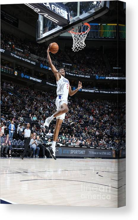 Nba Pro Basketball Canvas Print featuring the photograph Los Angeles Clippers V Utah Jazz by Melissa Majchrzak