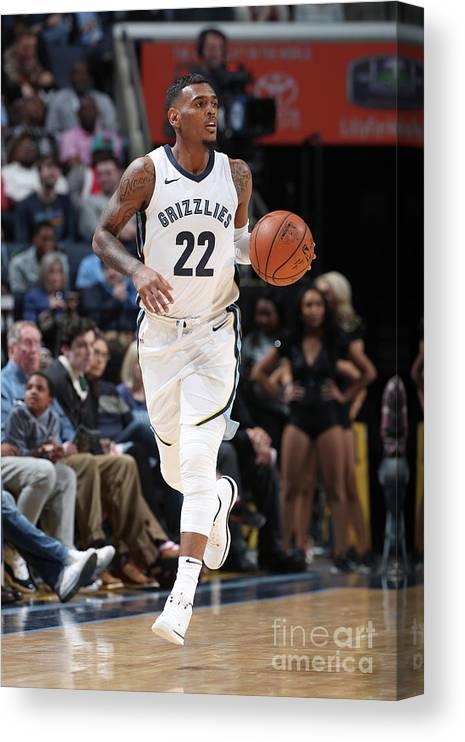 Nba Pro Basketball Canvas Print featuring the photograph Milwaukee Bucks V Memphis Grizzlies by Joe Murphy