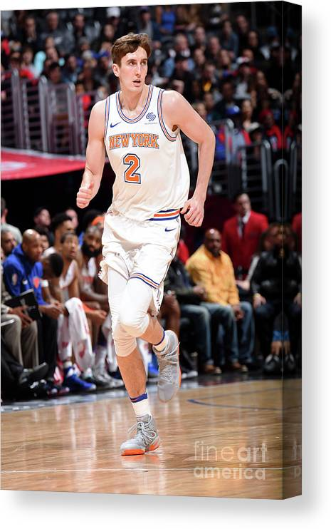 Nba Pro Basketball Canvas Print featuring the photograph New York Knicks V La Clippers by Andrew D. Bernstein