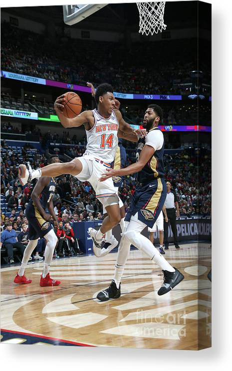 Smoothie King Center Canvas Print featuring the photograph New York Knicks V New Orleans Pelicans by Layne Murdoch Jr.