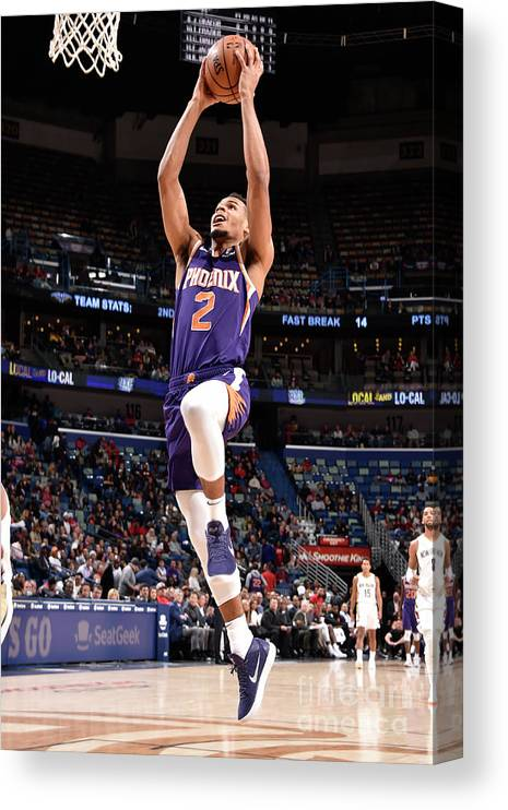 Smoothie King Center Canvas Print featuring the photograph Phoenix Suns V New Orleans Pelicans by Bill Baptist