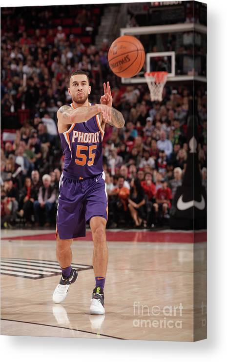 Nba Pro Basketball Canvas Print featuring the photograph Phoenix Suns V Portland Trail Blazers by Cameron Browne