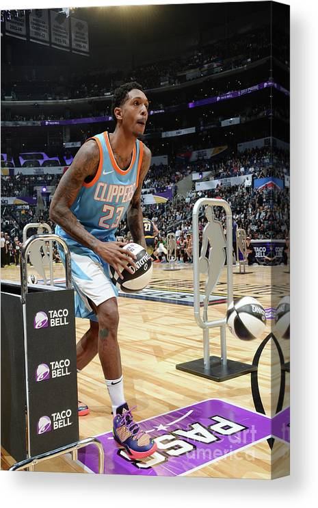 Event Canvas Print featuring the photograph Taco Bell Skills Challenge 2018 by Andrew D. Bernstein