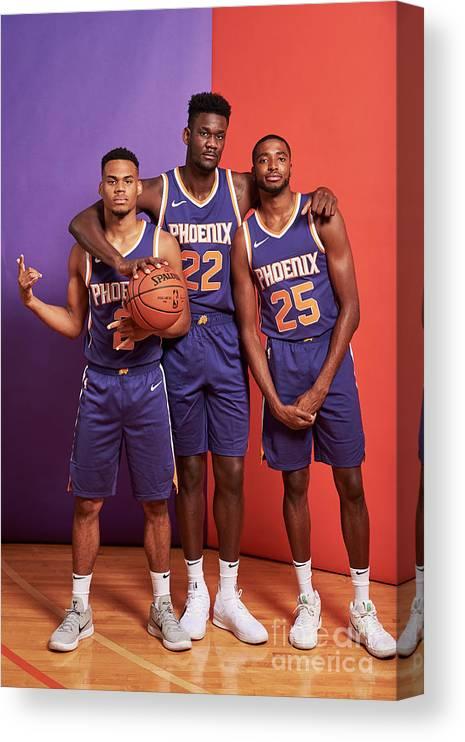 Nba Pro Basketball Canvas Print featuring the photograph 2018 Nba Rookie Photo Shoot by Jennifer Pottheiser