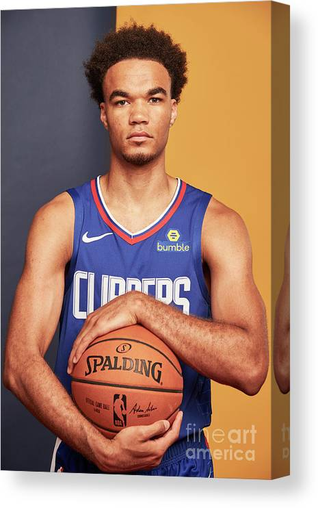 Jerome Robinson Canvas Print featuring the photograph 2018 Nba Rookie Photo Shoot by Jennifer Pottheiser