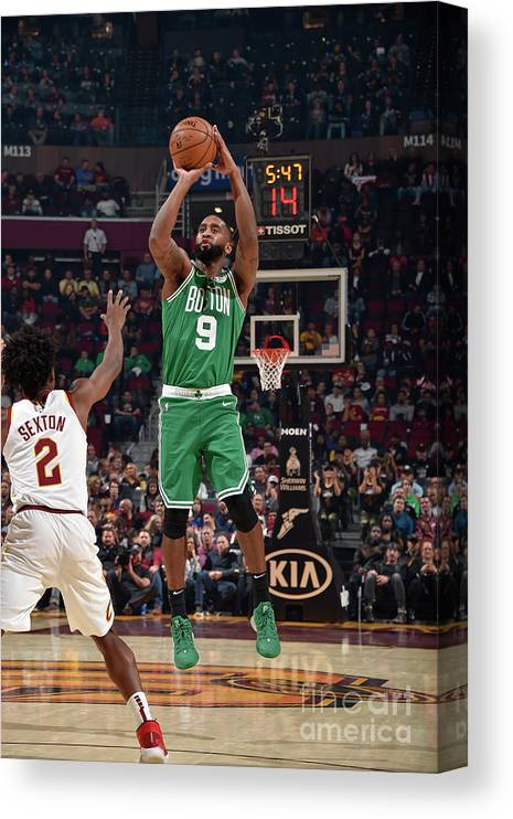 Nba Pro Basketball Canvas Print featuring the photograph Boston Celtics V Cleveland Cavaliers by David Liam Kyle