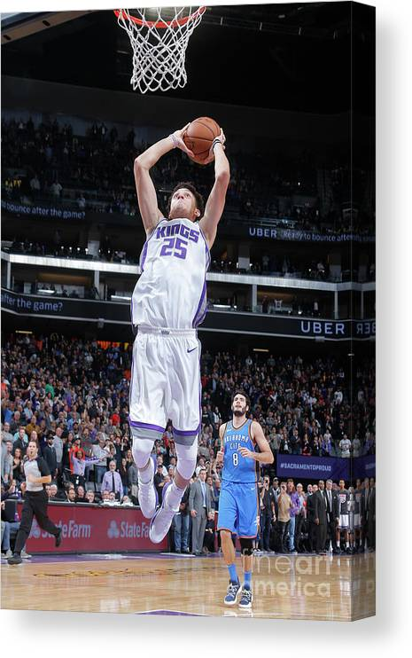 Nba Pro Basketball Canvas Print featuring the photograph Oklahoma City Thunder V Sacramento Kings by Rocky Widner