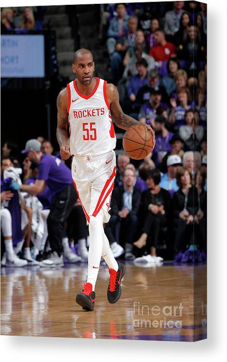 Nba Pro Basketball Canvas Print featuring the photograph Houston Rockets V Sacramento Kings by Rocky Widner