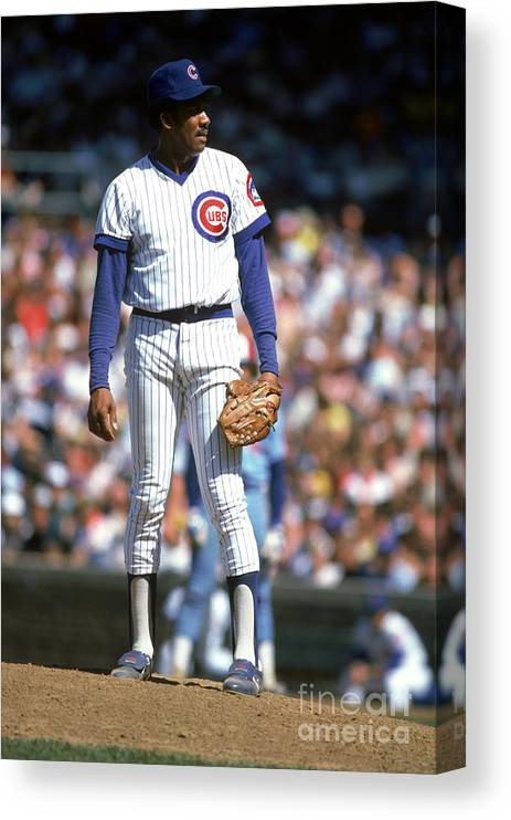 1980-1989 Canvas Print featuring the photograph Mlb Photos Archive by Rich Pilling