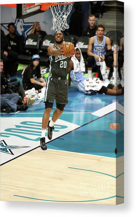 Nba Pro Basketball Canvas Print featuring the photograph 2019 Mtn Dew Ice Rising Stars by Kent Smith