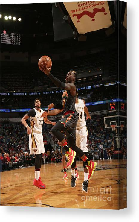 Smoothie King Center Canvas Print featuring the photograph Atlanta Hawks V New Orleans Pelicans by Layne Murdoch