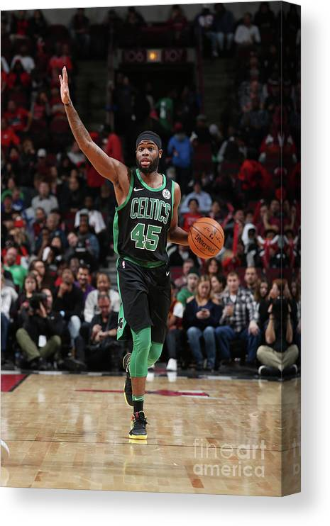 Nba Pro Basketball Canvas Print featuring the photograph Boston Celtics V Chicago Bulls by Gary Dineen