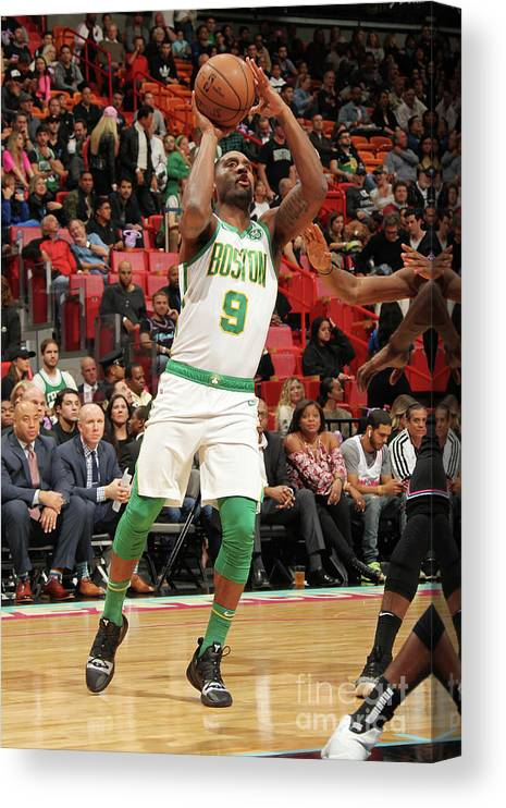 Nba Pro Basketball Canvas Print featuring the photograph Boston Celtics V Miami Heat by Oscar Baldizon